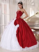 White and Red Quinceanera Dresses