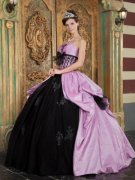 Purple and Black Quinceanera Dresses