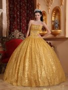 Gold Quinceanera Dresses