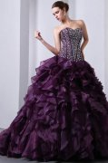 Dark Purple Quinceanera Gowns