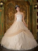 Champagne Quinceanera Gowns