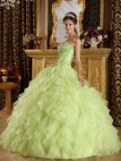 Yellow Green Quinceanera Dresses