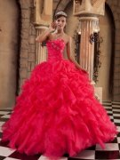Coral Red Quinceanera Dresses