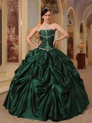 Dark Green Quinceanera Dresses