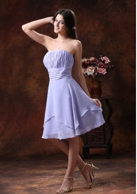 2013 The Style Populor In Queen Creek Arizona Lilac Strapless Bridesmaid Dress