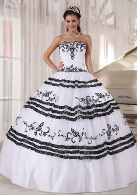 White and Black Quinceanera Dresses | Black and White Ball Gowns