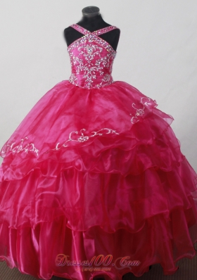 Little Girl Pageant Dresses With V-neck and Beading  Pageant Dresses