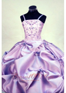Gorgeous Straps Floor-length Beading Ball gown Lilac Little Girl Pageant Dresses  Pageant Dresses