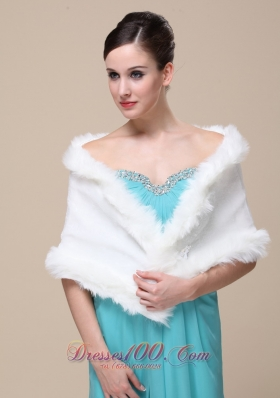 Gorgeous Faux Fur Special Occasion / Wedding Shawl On Sale