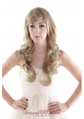 Elegant Blonde Extra Long Top Grade Quality Synthetic Hair Wig
