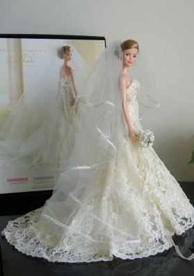 The Most Amazing Wedding Dress With Court Train Made To Fit Barbie Doll