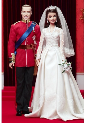A-line Wedding Dress To Barbie Doll With Lace
