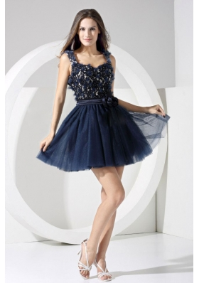 Navy Blue Cocktail Dress on Navy Blue Prom Dresses Dark Blue Prom Dress   Homecoming Dresses