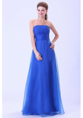 Blue 2013 Prom / Evening Dress With Empire Organza Ruched