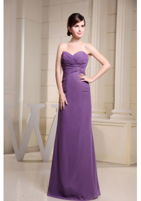 Sweetheart Prom Dress With Ruch Floor-length