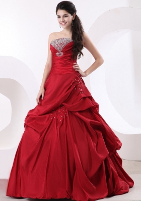 Strapless A-line and Beading For 2013 Custom Made Quinceanera Dress
