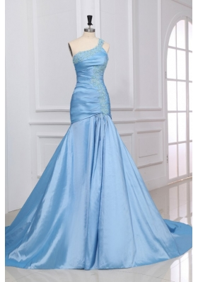 Light Blue Pageant Dresses | Sky Blue celebrity holiday graduation ...