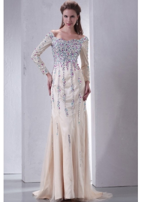 long sleeves prom dress : TopDresses100 Online