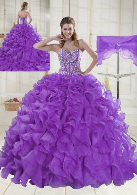 Hot Sale Sweetheart Beading 2015 Quinceanera Dresses in Sweet 16