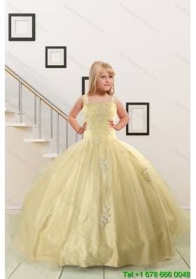 Affordable new arrival flower girl dresses high quality new arrival on sales appliques light yellow little girl dress for 2015 mightylinksfo