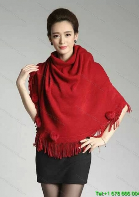 2015 Burgundy Knitted Fabric Wonderful Wraps