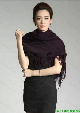 2015 Knitted Fabric Inexpensive Wraps in Black