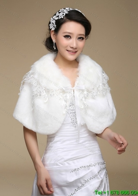 2015 Most Popular Faux Fur White Wraps