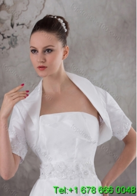 Gorgeous White  Short Sleeves Jacket