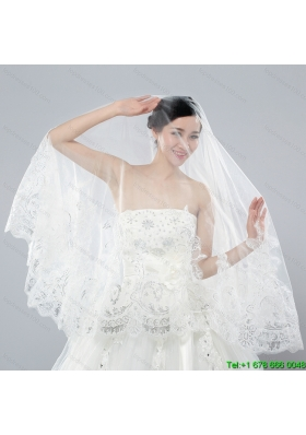 Two Tier Lace Edge Wedding Veil for Wedding Party