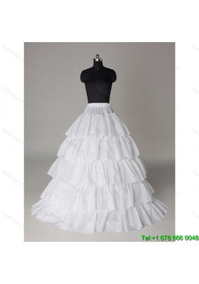 Hot Sell Organza A Line Floor length Petticoat in White