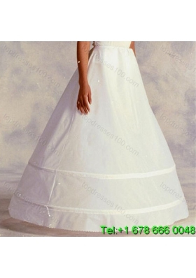 Most Popular Organza Ball Gown Floor length White Petticoat