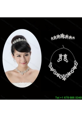 Spring Flowers Alloy/Rhinestones Ladies Jewelry Sets