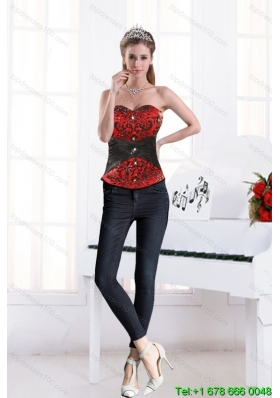 2015 Multi-color Sweetheart Beading Corset With Appliques in High Quality