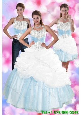 2015 Multi Color Detachable Quinceanera Skirts with Pick Ups and Beading