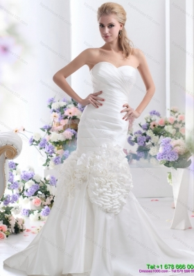 2015 Wonderful Sweetheart Wedding Dress with Ruching
