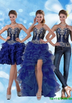 Detachable Most Popular Sweetheart Prom Skirts with Ruffled Layers and Embroidery