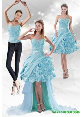 Perfect Sweetheart 2015 Detachable Prom Skirts with Beading and Ruffled Layers
