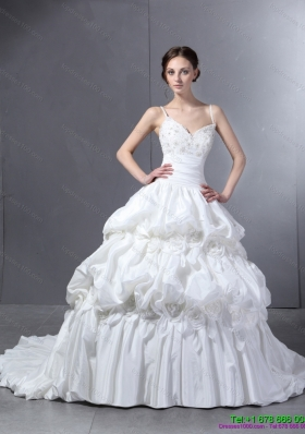 2015 Perfect Sweetheart Wedding Dress with Lace and  Pick Ups