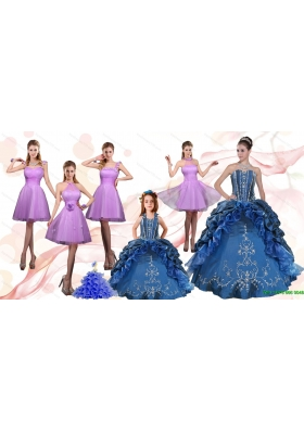 Ruffles and Beading Sweetheart Quinceanera Dress and Lilac Short Prom Dresses and Cute Halter Top Little Girl Dress