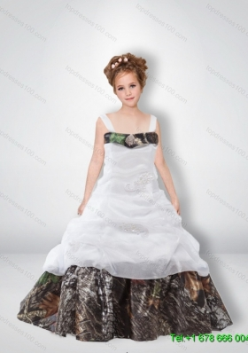 Cute A Line 2015 Little Girl Pageant Dresses with Beading