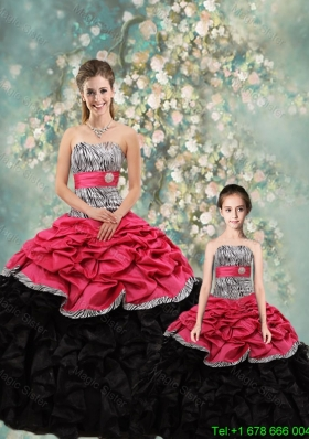 Perfect Strapless Zebra Matching Sister Dresses in Multi Color