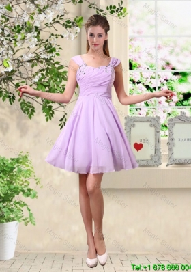 Exclusive Straps Beaded Bridesmaid Dresses with Mini Length