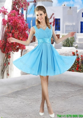 Popular Mini Length 2016 Bridesmaid Dresses in Aqua Blue