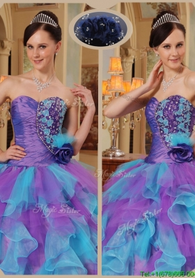 Cheap Multi Color Quinceanera Dresses with Beading and Ruffles