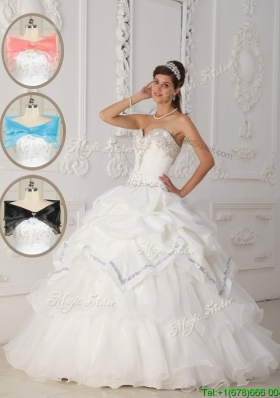 Most Popular White Ball Gown Sweetheart Quinceanera Dresses