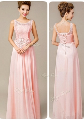 Beautiful Scoop Empire Fashion Evening Dresses with Appliques and Lace
