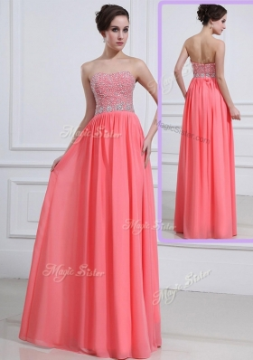 Beautiful Sweetheart Watermelon Fashion Evening Dresses with Beading