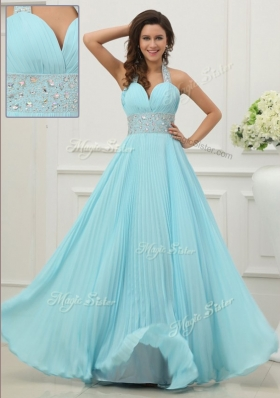 Fashionable Halter Top Fashion Evening Dresses  with Beading and Paillette