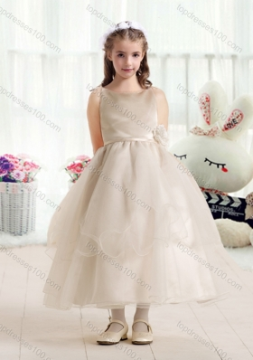 New Arrival Ball Gown Flower Girl Dresses with Hand Made Flowers
