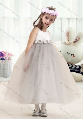 New Arrival  Bateau Empire Flower Girl Dresses with Appliques